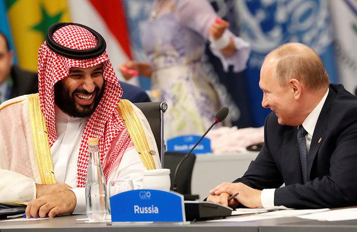 Песков прокомментировал приветствие Путина и бен Салмана
