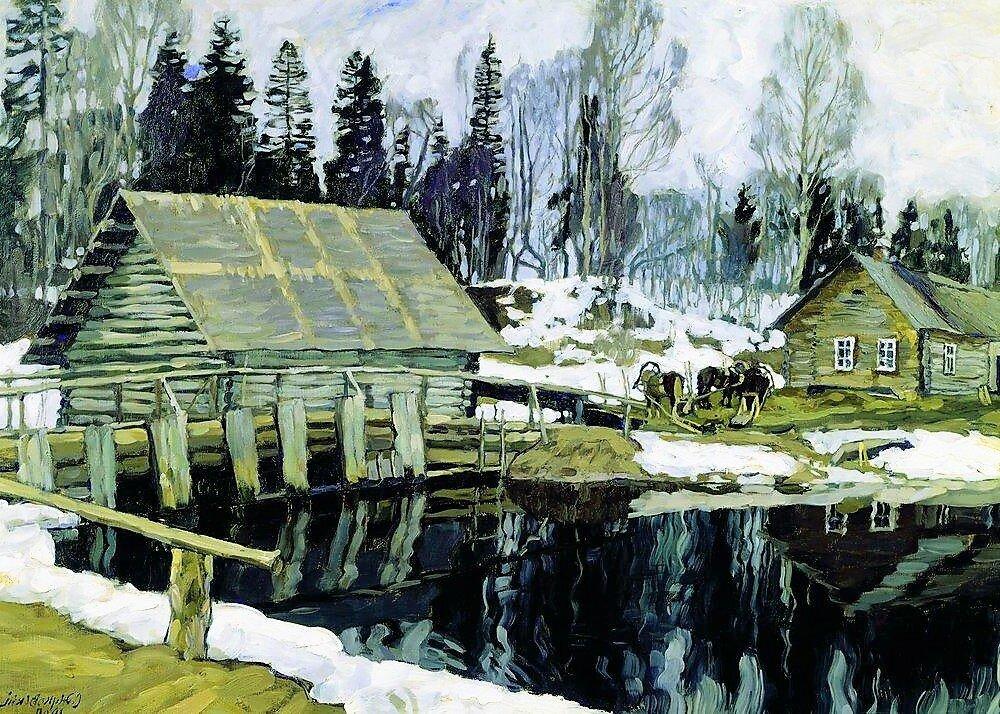 """""""Плотина"""", 1909, холст, масло"""