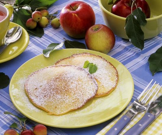 Рецепт оладьи постные с яблоками