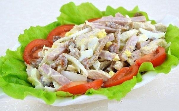 10 Рецептов потрясающих мясных салатов!)