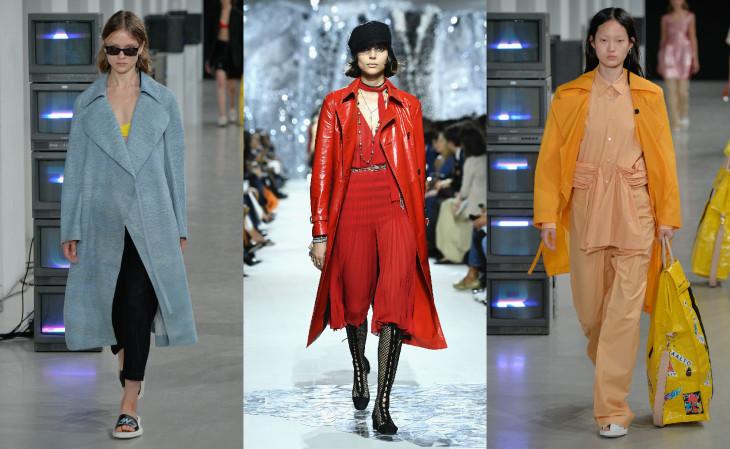 весеннее пальто 2018 цветное