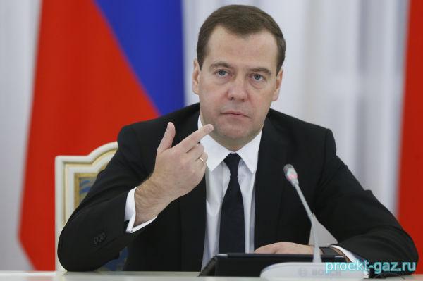 Премьер-министр Медведев: РФ и Белоруссия движутся к единому рынку газа