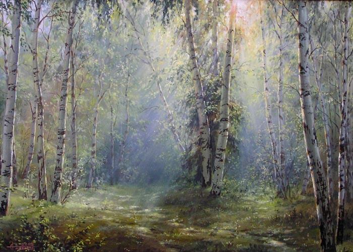 Живопись на стекле. Эльза Колесникова