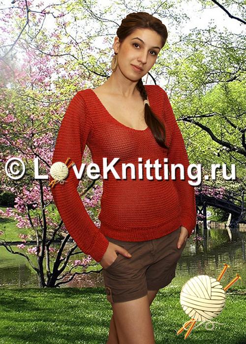 Терракотовый пуловер
