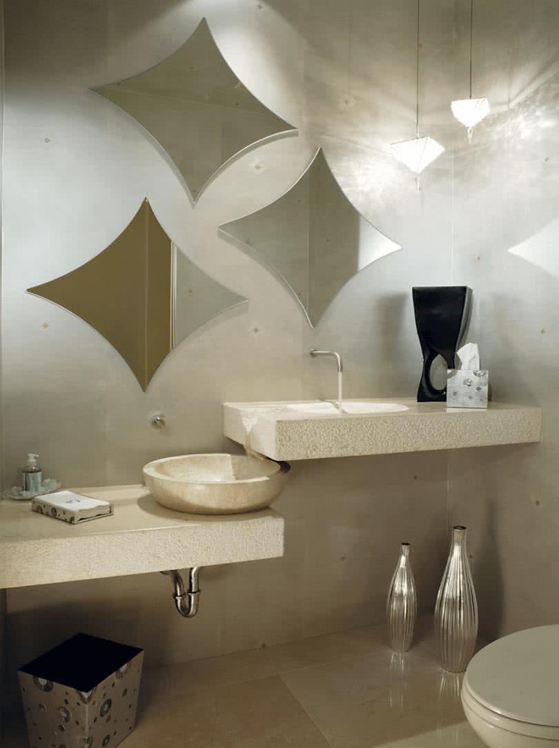 Фигурные зеркала в форме ромба