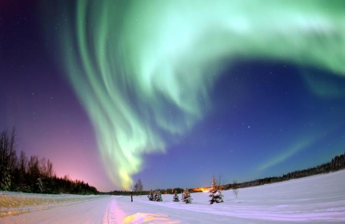Северное сияние. Гренландия.