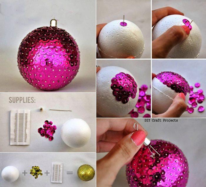 Поделки из пенопластовых шариков к новому году