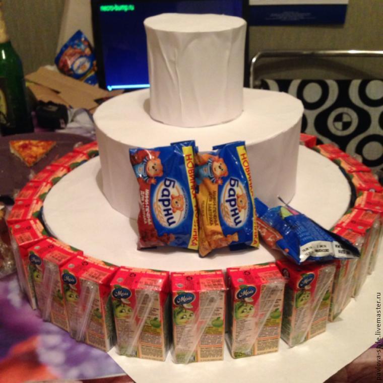 Торты из конфет и сока своими руками пошаговое фото