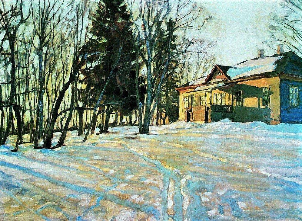 """""""Мартовский вечер"""", 1904, холст, масло"""