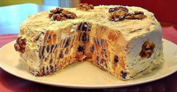 Торт «Трухлявый пень» Он настолько оригинальный в разрезе получается, что трудно поверить в то, что приготовлен дома