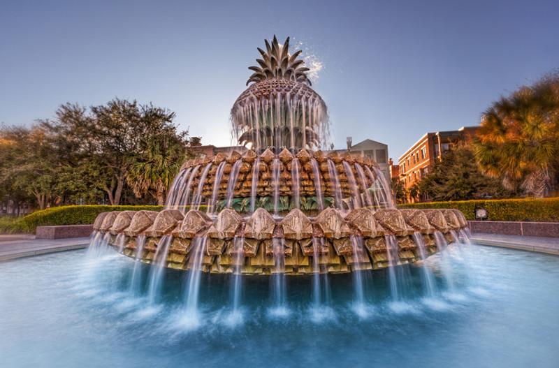"""""""Ананас"""", Чарлстон, Южная Каролина, США город, достопримечательность, интересное, мир, подборка, страна, фонтан, фото"""