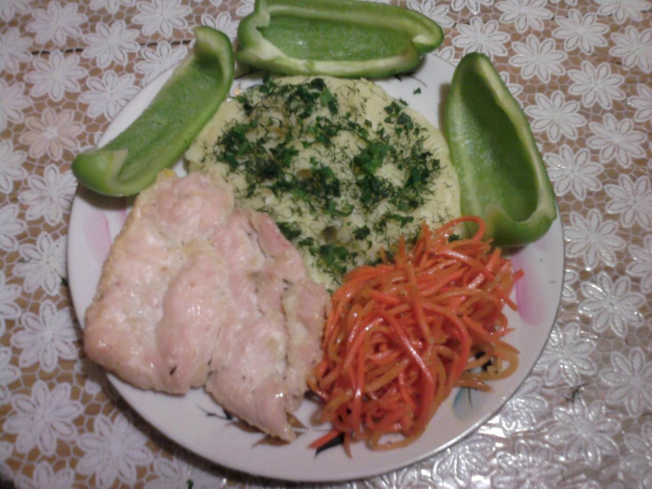Мой скромный ужин! Фото-рецепт.