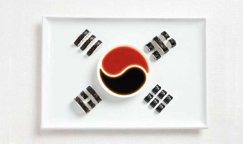 korea 700x476 Вкусные флаги мира