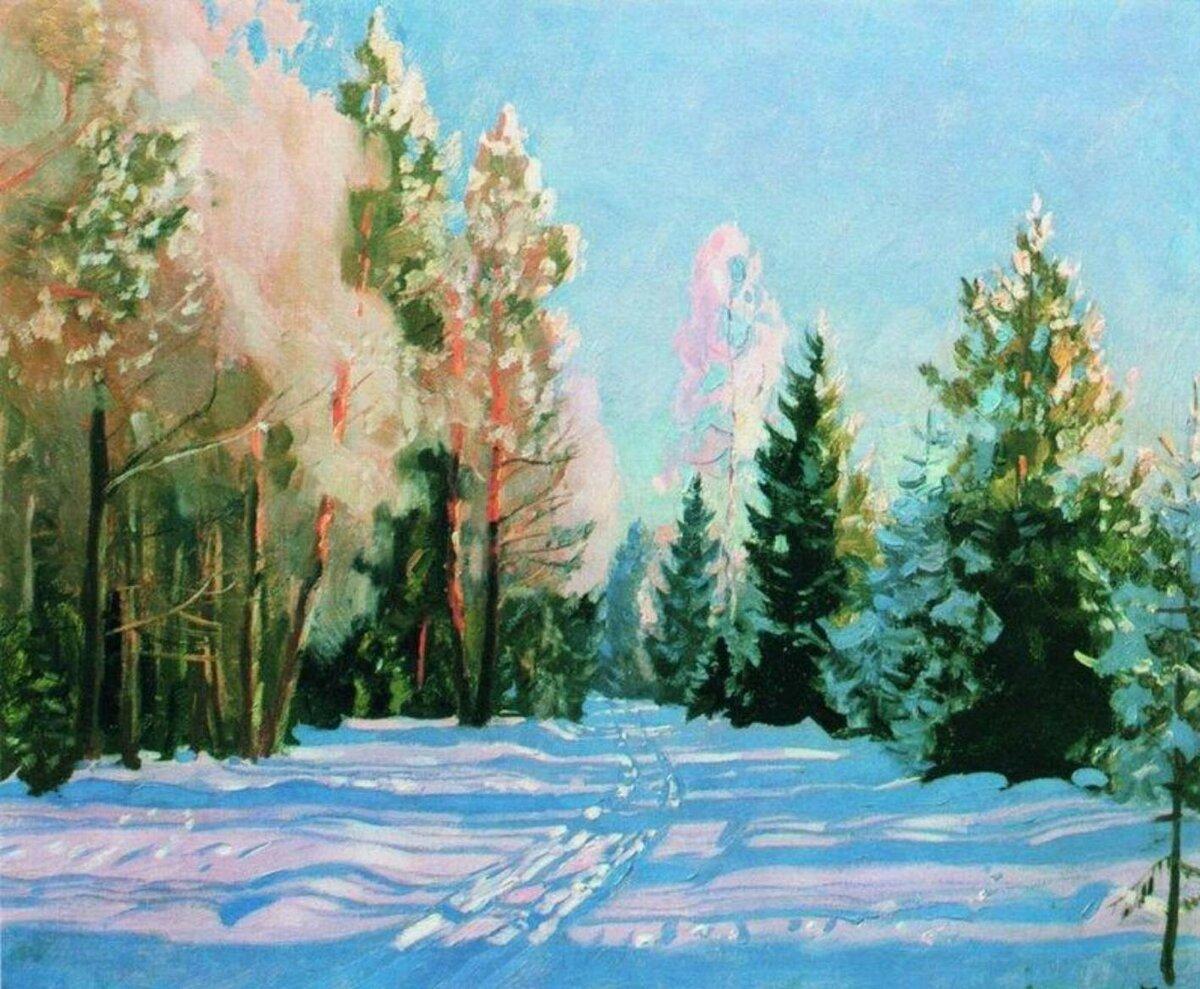 """""""Мороз"""", 1928, холст, масло"""