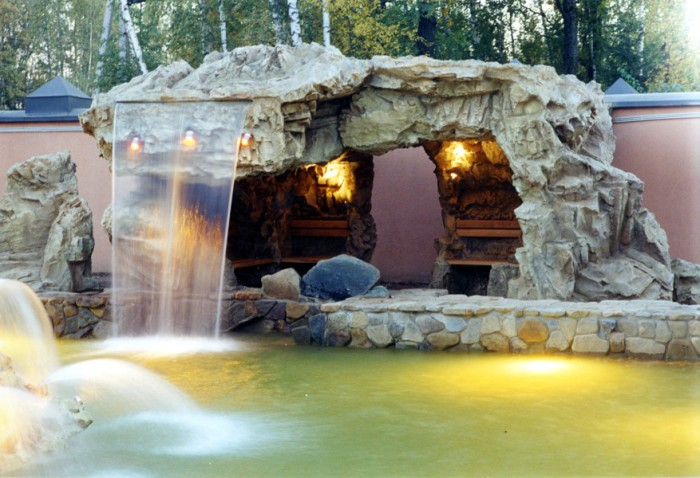 Водопад с прудиком своими руками