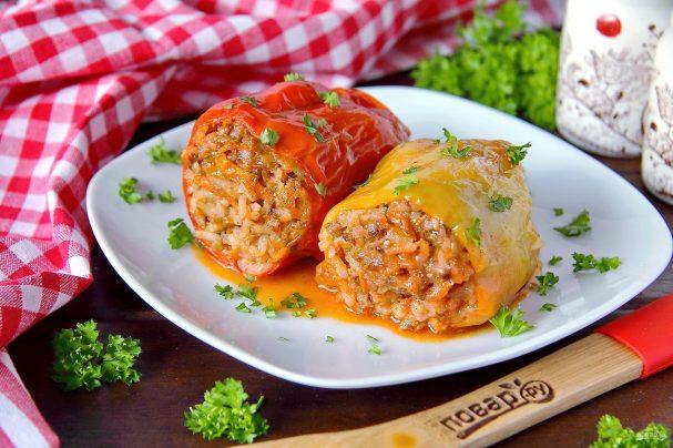 Самые вкусные фаршированные перцы с мясом и рисом