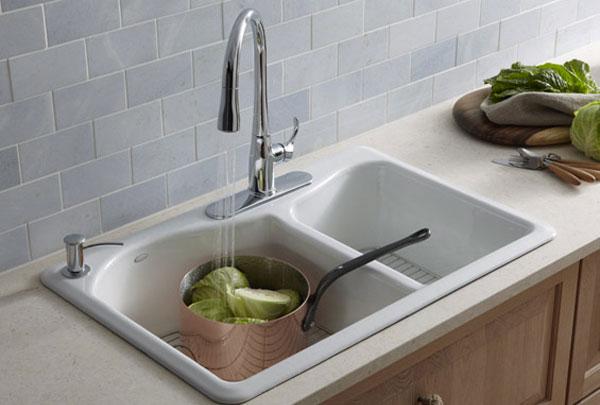 Узкая раковина на кухню