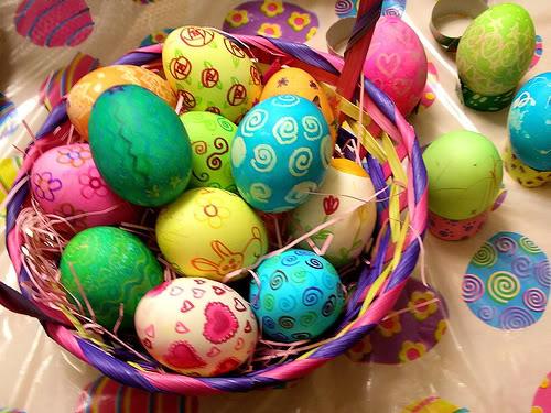 О дарении крашеных яиц на Пасху. Традиция красить яйца на Пасху.