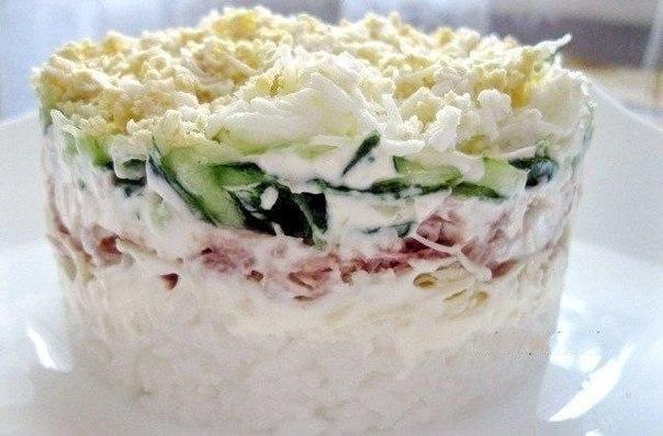 Мой любимый салат с тунцом «Капля воды». Нежный и очень вкусный!