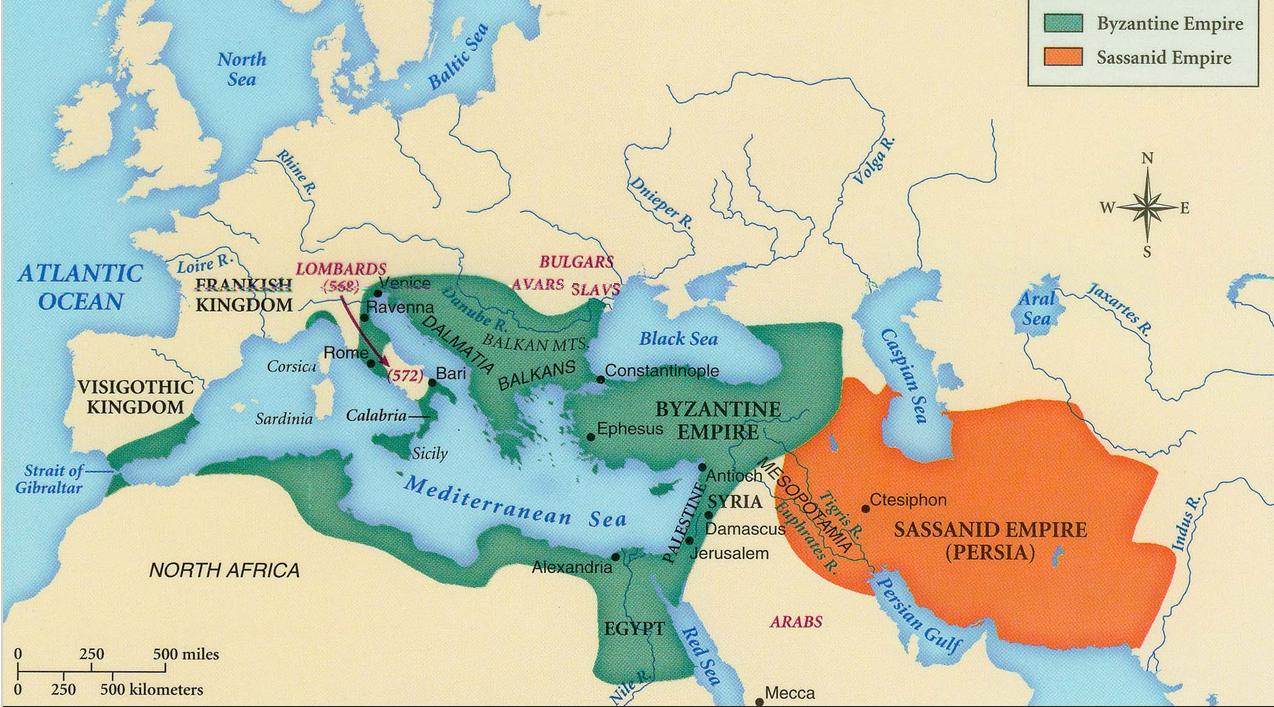 similarities and differences between the byzantine empire and europe in the middle ages
