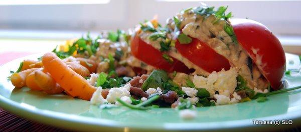 """салат """"Необычный"""" Фото-рецепт."""