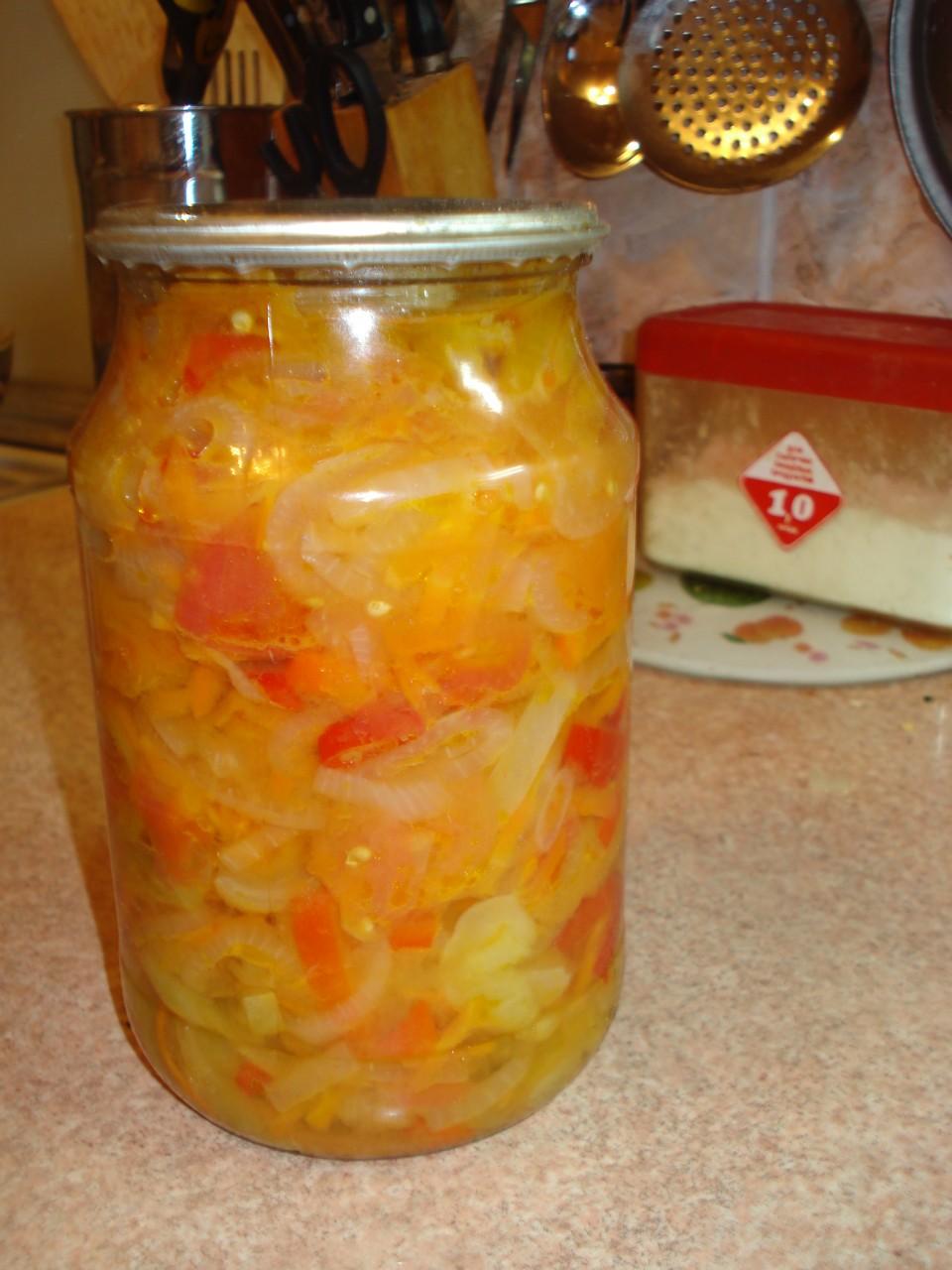Салат из зеленых помидор на зиму пошаговый рецепт с фото