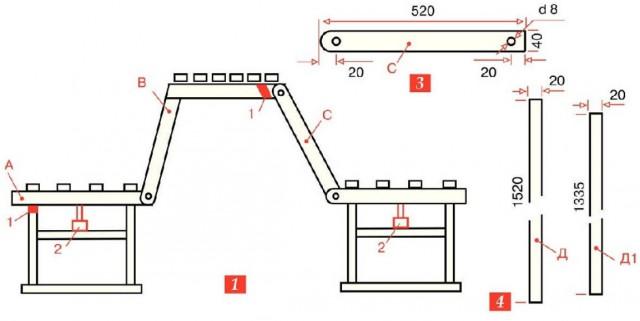 Садовая мебель трансформер своими руками чертежи