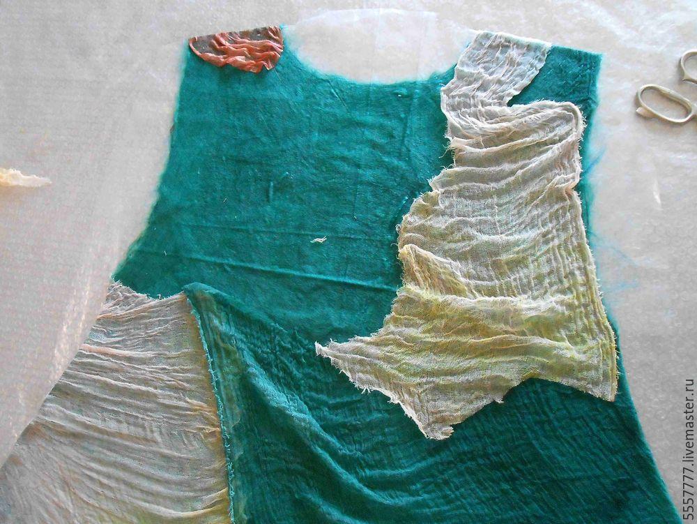 Создаем оригинальную тунику из марли и шерсти