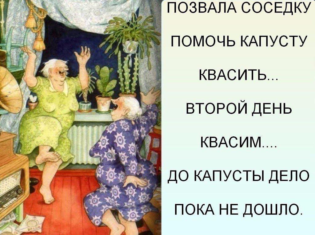 Позвала соседку капусту квасить... Улыбнемся)))
