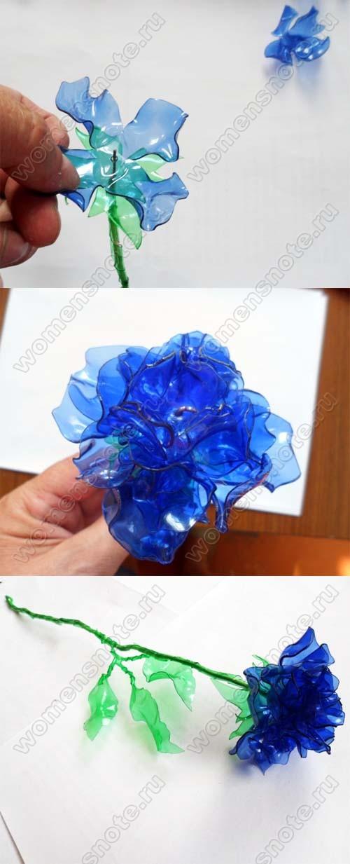 Как из пластиковой бутылки вырезать цветы
