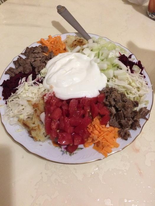 Салат с мясом «Татарский»
