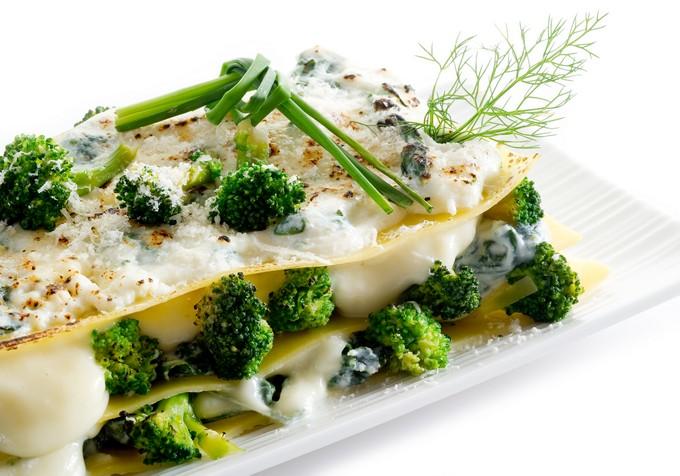 Вегетарианская лазанья с брокколи