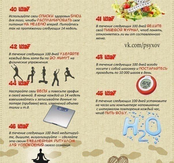 60 маленьких шагов к улучшению жизни. Сохраняйте!