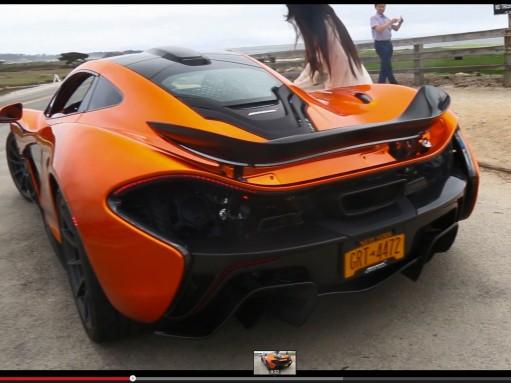 Девушка не смогла открыть дверь McLaren P1 (ВИДЕО)