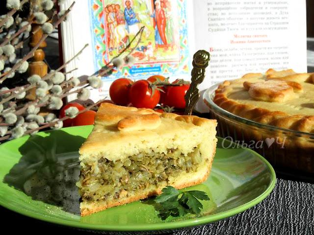 Вербное воскресенье. Пирог с капустой, шпинатом и тунцом