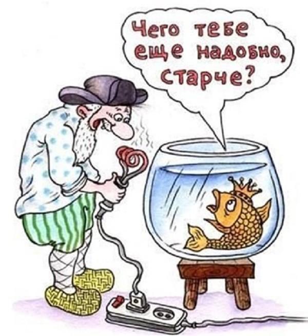 Анекдот Про Золотую Рыбку