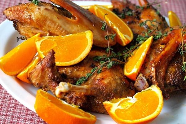 Утка с апельсинами фото