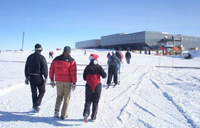 Южный полюс: оббежать весь мир.