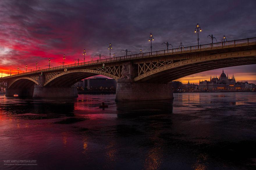 Фантастические закаты и рассветы Будапешта