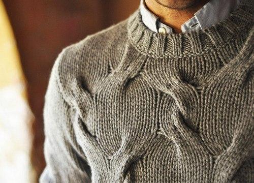 Как правильно носить рубашку под свитером?