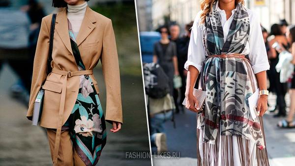 Ого, это что-то новенькое: 12 необычных способов носить пояс и платок