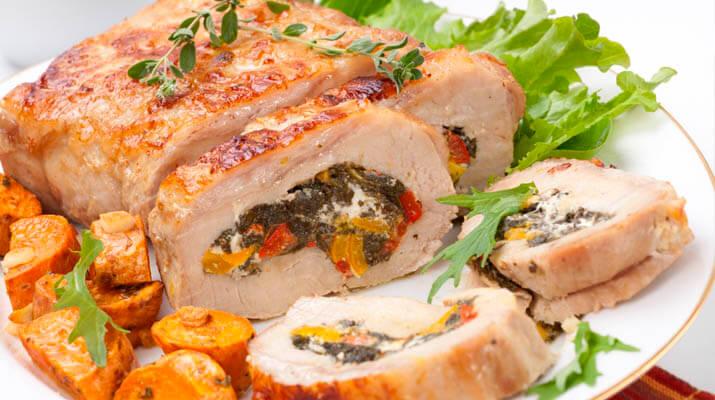 Мясной рулет из свинины с начинкой рецепт с фото пошагово
