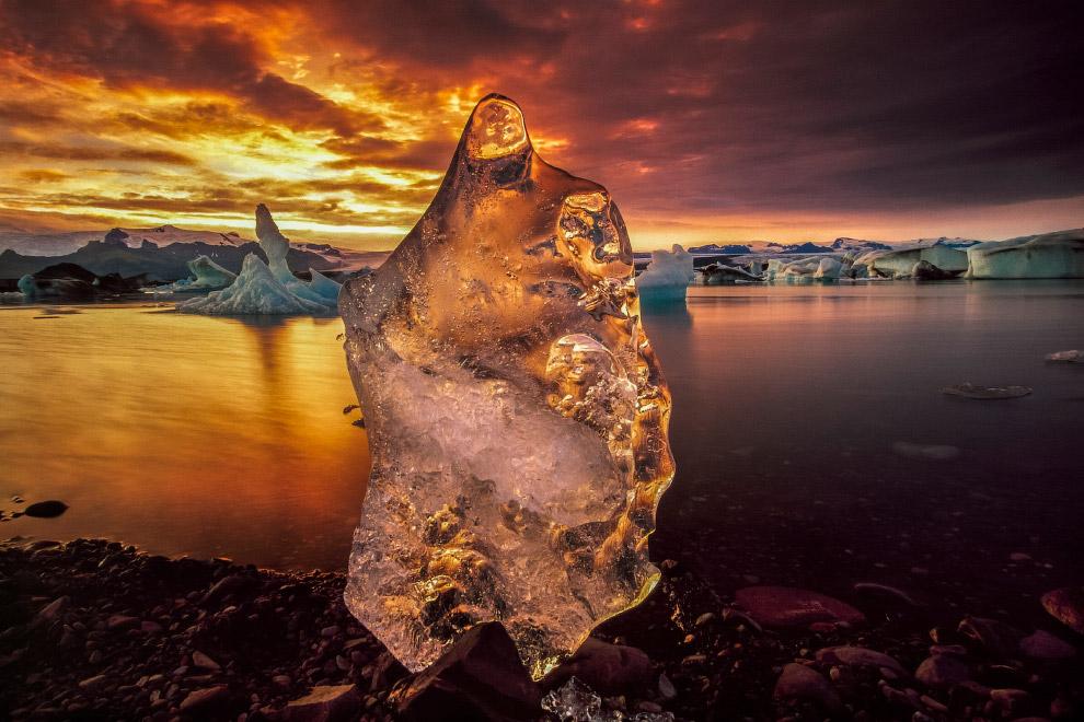 Ледниковая лагуна Йокульсарлон