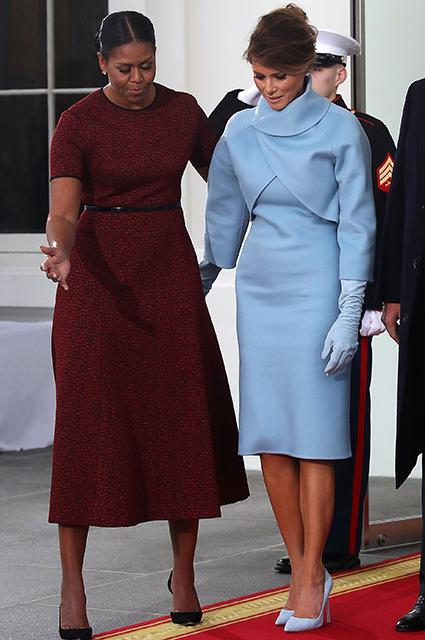 Наряды, которые выбрали Меланья Трамп, Иванка Трамп и Мишель Обама на инаугурационные торжества