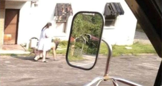 Американка выгуливала голого любовника на поводке