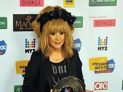 Пугачева возглавила список самых популярных певцов