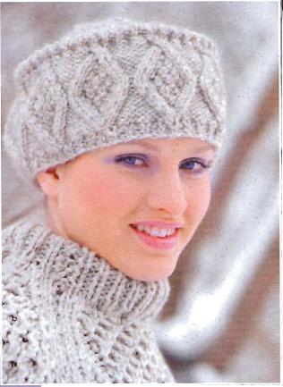 шапочка-кубанка спицами