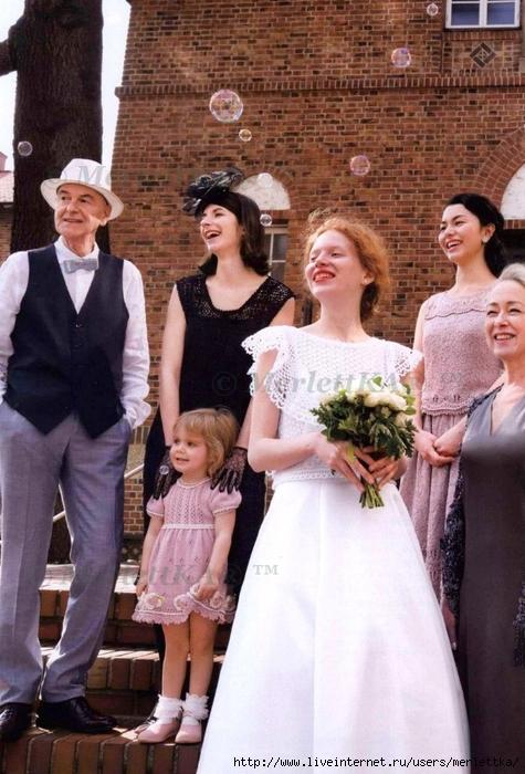 Вязание крючком для свадьбы - элементы платья, аксессуары, наряды гостей