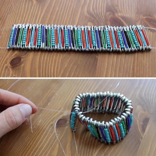 украшение из бисера браслет фото
