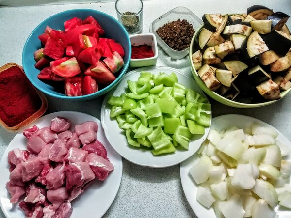 "Мясо с овощами по-грузински. Пошаговый рецепт. Фото автора/Дзен канал ""Вилка.Ложка.Палочки"" (https://zen.yandex.ru/kaleidoscope )"